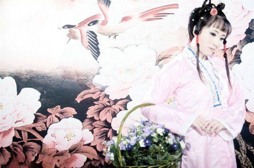 处女座古装婚纱照图片手绘