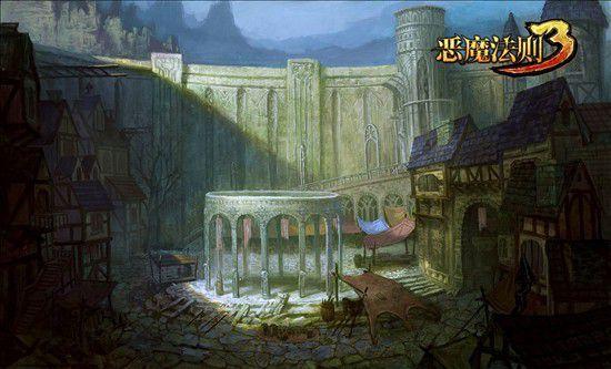 前方的塔堡,欧式的建筑似乎向读者玩家昭示冷 泉关曾经作为罗兰大陆上