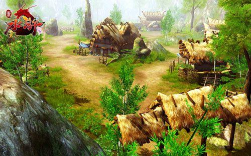 村庄原画设计图
