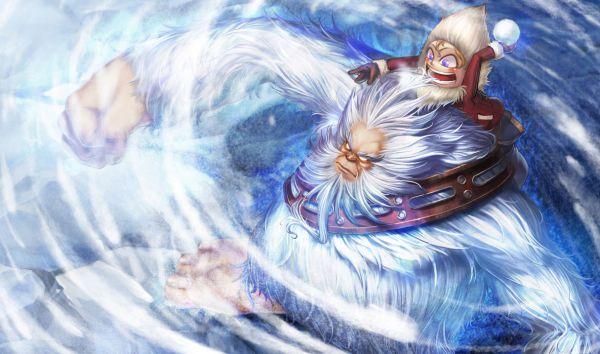 《英雄联盟》精美原画雪人骑士-努努