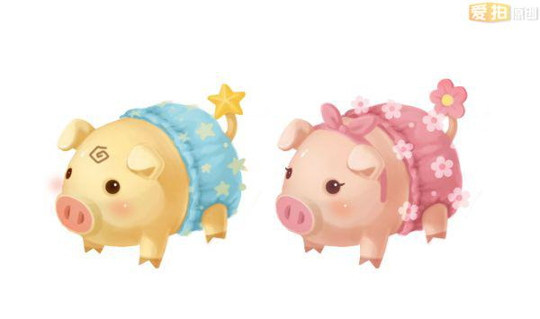 配上我们的萌猪宝宝,竟然有一种说不出的协调感.
