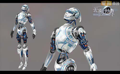 ms号机器人原画设计稿